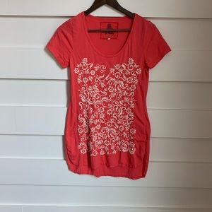 (NWOT) Johnny Was / Pink Embroidered Short Sleeve